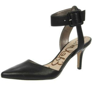 Sam Edelman Okala Black Leather Pointy Heels NWOT